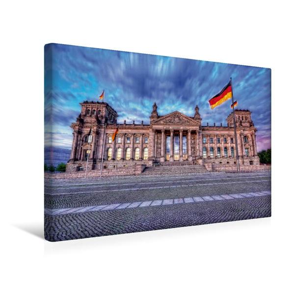 Premium Textil-Leinwand 45 cm x 30 cm quer, Reichstag   Wandbild, Bild auf Keilrahmen, Fertigbild auf echter Leinwand, Leinwanddruck - Coverbild