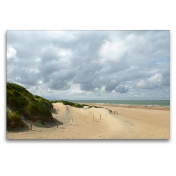 Premium Textil-Leinwand 120 cm x 80 cm quer, Dünenlandschaft, wie gemalt | Wandbild, Bild auf Keilrahmen, Fertigbild auf echter Leinwand, Leinwanddruck - Coverbild