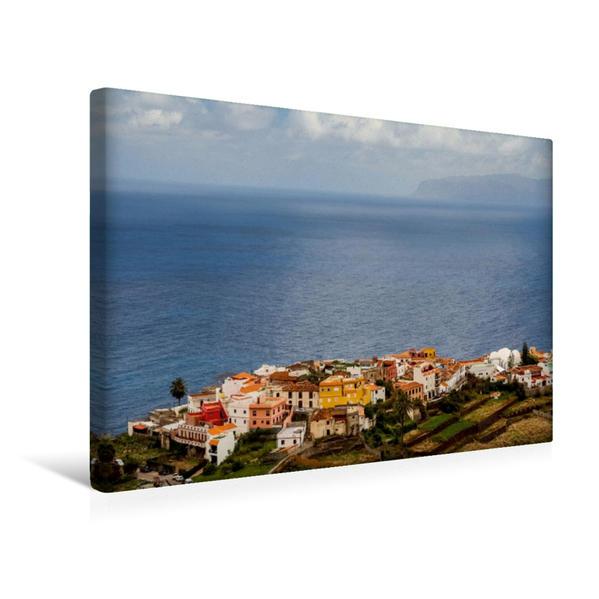 Premium Textil-Leinwand 45 cm x 30 cm quer, Entdeckungsreise La Gomera: Agulo | Wandbild, Bild auf Keilrahmen, Fertigbild auf echter Leinwand, Leinwanddruck - Coverbild