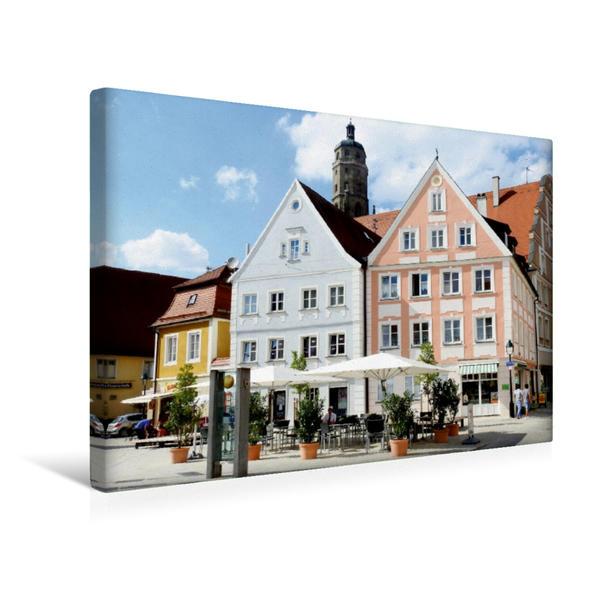 Premium Textil-Leinwand 45 cm x 30 cm quer, Am Brettermarkt in Nördlingen, Schwaben | Wandbild, Bild auf Keilrahmen, Fertigbild auf echter Leinwand, Leinwanddruck - Coverbild