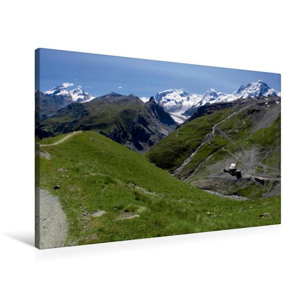 Premium Textil-Leinwand 90 cm x 60 cm quer, Im Schwarzsee Paradise, 2583 m | Wandbild, Bild auf Keilrahmen, Fertigbild auf echter Leinwand, Leinwanddruck - Coverbild