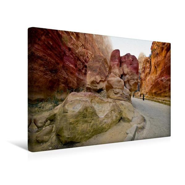Premium Textil-Leinwand 45 cm x 30 cm quer, Hauptstraße in der Felsenstadt | Wandbild, Bild auf Keilrahmen, Fertigbild auf echter Leinwand, Leinwanddruck - Coverbild