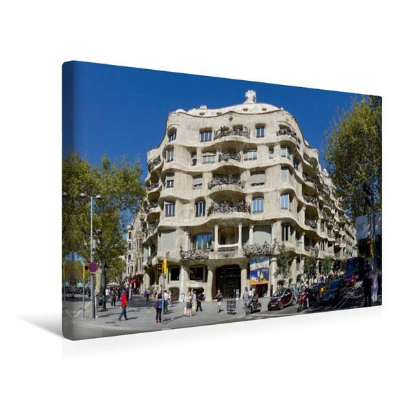 Premium Textil-Leinwand 45 cm x 30 cm quer, Casa Mila? (La Pedrera) | Wandbild, Bild auf Keilrahmen, Fertigbild auf echter Leinwand, Leinwanddruck - Coverbild