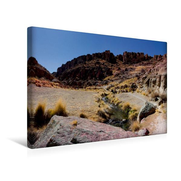 Premium Textil-Leinwand 45 cm x 30 cm quer, Altiplano-Hochebene, 3.650 m ü. M., Bolivien | Wandbild, Bild auf Keilrahmen, Fertigbild auf echter Leinwand, Leinwanddruck - Coverbild
