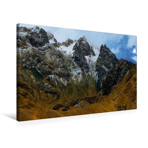 Premium Textil-Leinwand 75 cm x 50 cm quer, La Raya Pass, 4.470 m ü. M., Peru | Wandbild, Bild auf Keilrahmen, Fertigbild auf echter Leinwand, Leinwanddruck - Coverbild