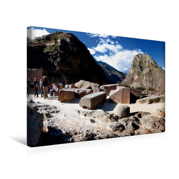 Premium Textil-Leinwand 45 cm x 30 cm quer, Ollantaytambo, 2.792 m ü. M.. Peru | Wandbild, Bild auf Keilrahmen, Fertigbild auf echter Leinwand, Leinwanddruck - Coverbild
