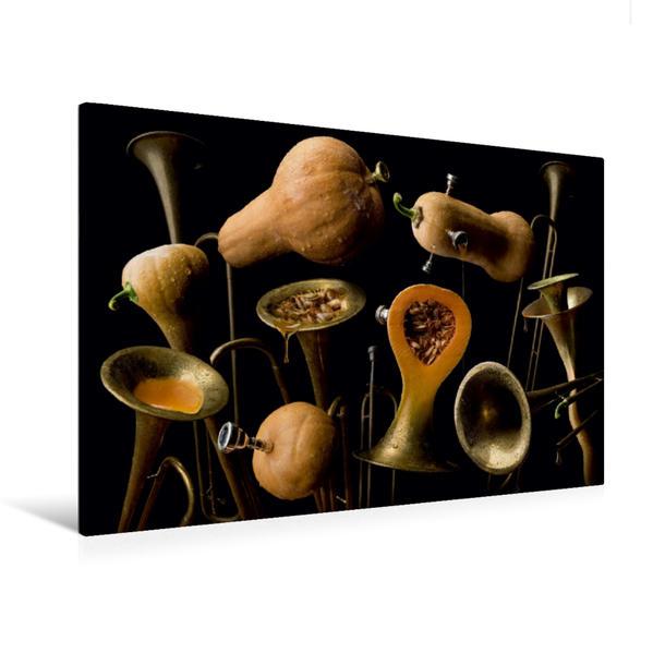 Premium Textil-Leinwand 120 cm x 80 cm quer, Butternut Trompete | Wandbild, Bild auf Keilrahmen, Fertigbild auf echter Leinwand, Leinwanddruck - Coverbild
