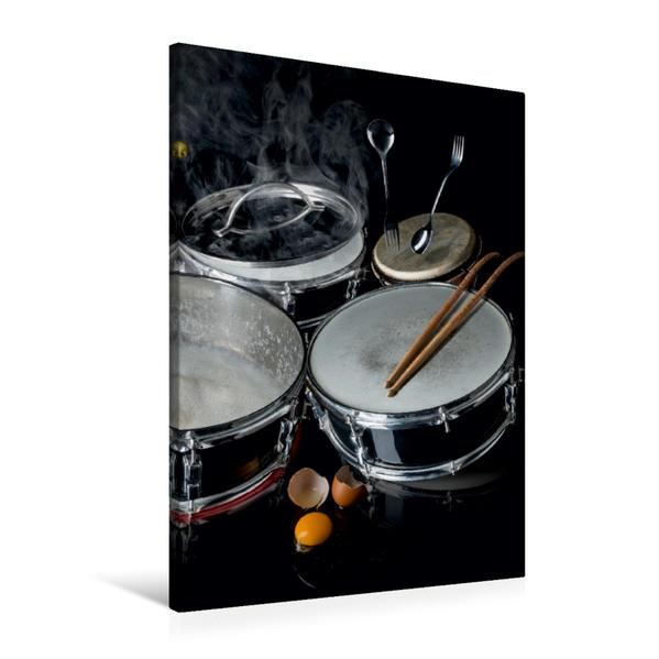 Premium Textil-Leinwand 60 cm x 90 cm hoch, drummers dinner | Wandbild, Bild auf Keilrahmen, Fertigbild auf echter Leinwand, Leinwanddruck - Coverbild
