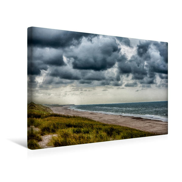 Premium Textil-Leinwand 45 cm x 30 cm quer, Impressionen an der Dänischen Nordseeküste   Wandbild, Bild auf Keilrahmen, Fertigbild auf echter Leinwand, Leinwanddruck - Coverbild
