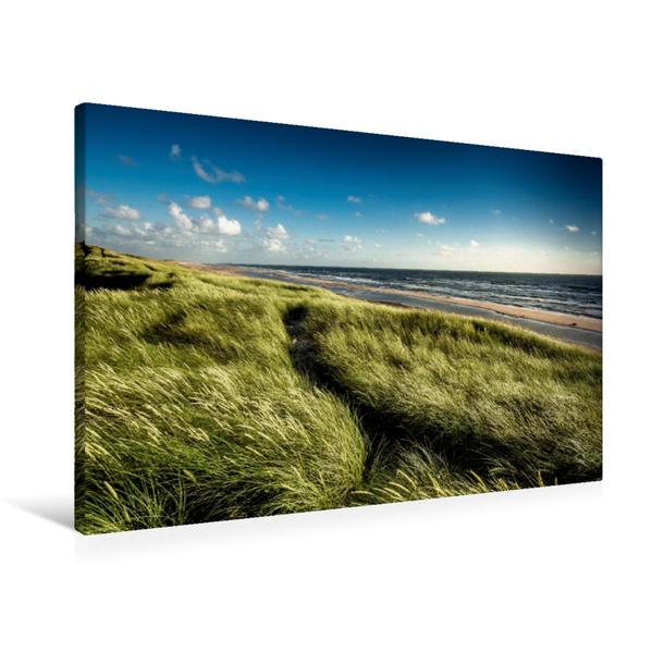 Premium Textil-Leinwand 90 cm x 60 cm quer, Impressionen an der Dänischen Nordseeküste | Wandbild, Bild auf Keilrahmen, Fertigbild auf echter Leinwand, Leinwanddruck - Coverbild