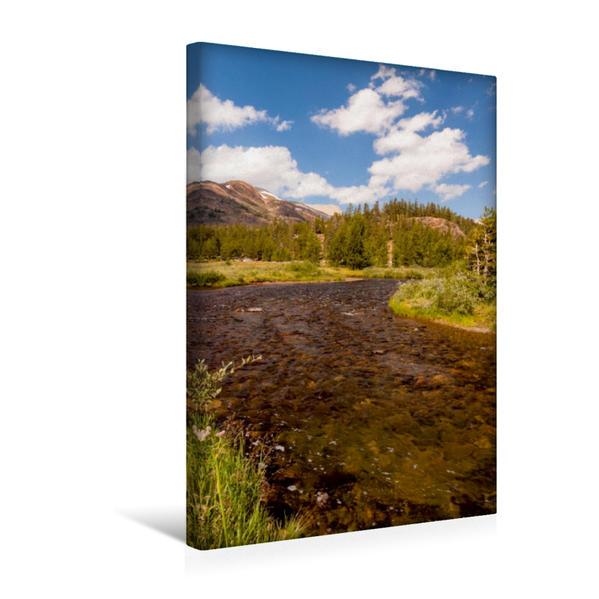 Premium Textil-Leinwand 30 cm x 45 cm hoch, Merced River | Wandbild, Bild auf Keilrahmen, Fertigbild auf echter Leinwand, Leinwanddruck - Coverbild