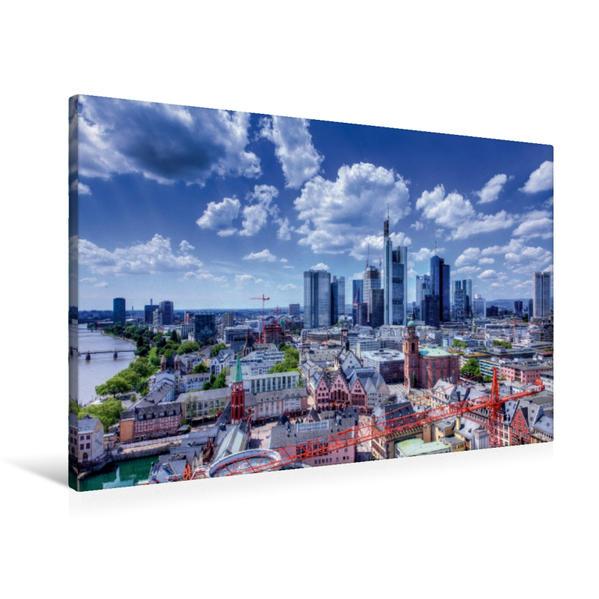 Premium Textil-Leinwand 90 cm x 60 cm quer, Domblick auf Skyline | Wandbild, Bild auf Keilrahmen, Fertigbild auf echter Leinwand, Leinwanddruck - Coverbild