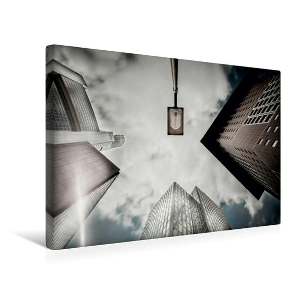 Premium Textil-Leinwand 45 cm x 30 cm quer, Japan Tower an Neue Mainzer/GroGa | Wandbild, Bild auf Keilrahmen, Fertigbild auf echter Leinwand, Leinwanddruck - Coverbild