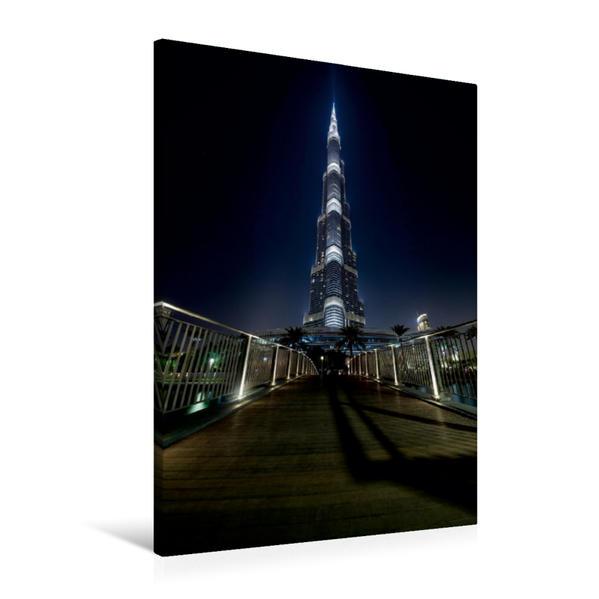 Premium Textil-Leinwand 60 cm x 90 cm hoch, The Way To The Burj Khalifa   Wandbild, Bild auf Keilrahmen, Fertigbild auf echter Leinwand, Leinwanddruck - Coverbild