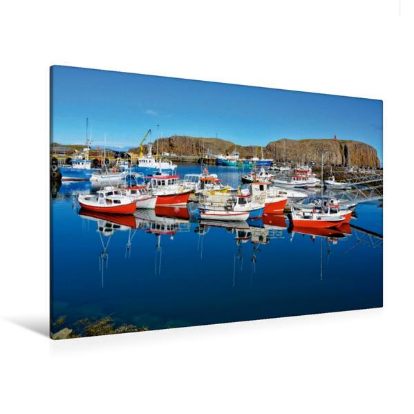 Premium Textil-Leinwand 120 cm x 80 cm quer, Stykkisholmur, Island | Wandbild, Bild auf Keilrahmen, Fertigbild auf echter Leinwand, Leinwanddruck - Coverbild