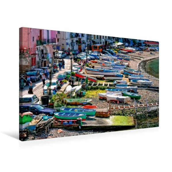 Premium Textil-Leinwand 75 cm x 50 cm quer, Sorrent, Italien | Wandbild, Bild auf Keilrahmen, Fertigbild auf echter Leinwand, Leinwanddruck - Coverbild
