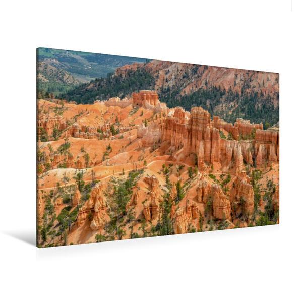 Premium Textil-Leinwand 120 cm x 80 cm quer, Bryce Canyon, Utah | Wandbild, Bild auf Keilrahmen, Fertigbild auf echter Leinwand, Leinwanddruck - Coverbild