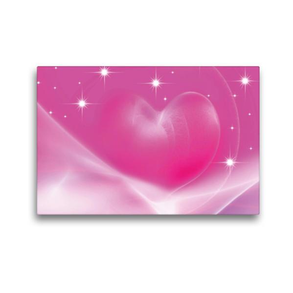 Premium Textil-Leinwand 45 cm x 30 cm quer, Das rosa Herz   Wandbild, Bild auf Keilrahmen, Fertigbild auf echter Leinwand, Leinwanddruck - Coverbild