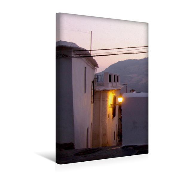 Premium Textil-Leinwand 30 cm x 45 cm hoch, Abendstimmung in Capileira | Wandbild, Bild auf Keilrahmen, Fertigbild auf echter Leinwand, Leinwanddruck - Coverbild