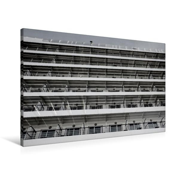 Premium Textil-Leinwand 90 cm x 60 cm quer, Fensterfront | Wandbild, Bild auf Keilrahmen, Fertigbild auf echter Leinwand, Leinwanddruck - Coverbild