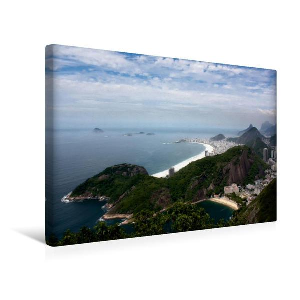 Premium Textil-Leinwand 45 cm x 30 cm quer, Rio de Janeiro | Wandbild, Bild auf Keilrahmen, Fertigbild auf echter Leinwand, Leinwanddruck - Coverbild