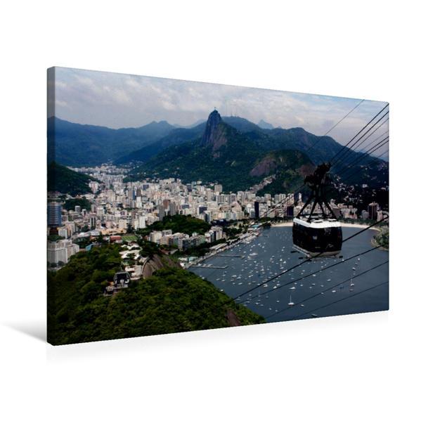 Premium Textil-Leinwand 75 cm x 50 cm quer, Rio de Janeiro   Wandbild, Bild auf Keilrahmen, Fertigbild auf echter Leinwand, Leinwanddruck - Coverbild