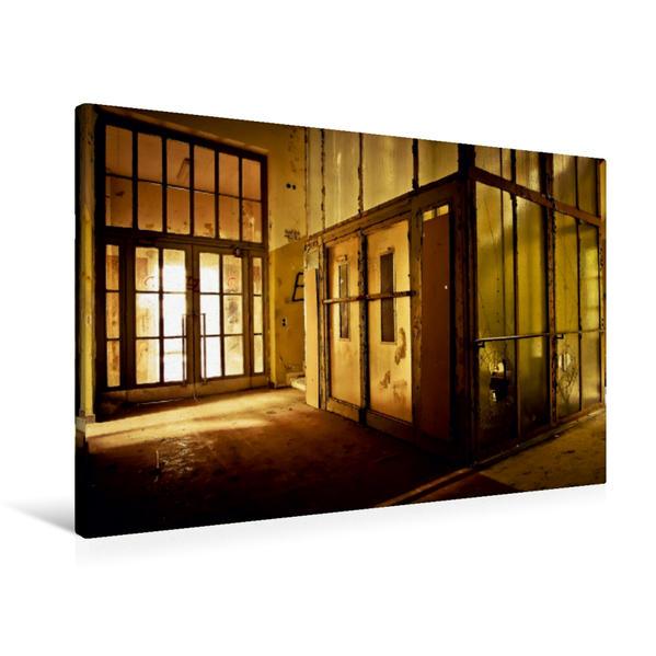 Premium Textil-Leinwand 90 cm x 60 cm quer, Vintage Aufzug | Wandbild, Bild auf Keilrahmen, Fertigbild auf echter Leinwand, Leinwanddruck - Coverbild