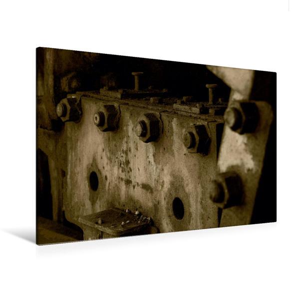 Premium Textil-Leinwand 120 cm x 80 cm quer, Schrauben und Muttern | Wandbild, Bild auf Keilrahmen, Fertigbild auf echter Leinwand, Leinwanddruck - Coverbild