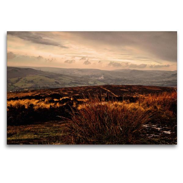 Premium Textil-Leinwand 120 cm x 80 cm quer, Peak District - Sheffield | Wandbild, Bild auf Keilrahmen, Fertigbild auf echter Leinwand, Leinwanddruck - Coverbild