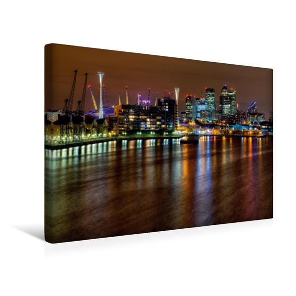 Premium Textil-Leinwand 45 cm x 30 cm quer, London - Königliche Docks | Wandbild, Bild auf Keilrahmen, Fertigbild auf echter Leinwand, Leinwanddruck - Coverbild