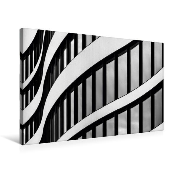 Premium Textil-Leinwand 75 cm x 50 cm quer, Fassadenansicht Panta Rhei - Bürogebäude Düsseldorf   Wandbild, Bild auf Keilrahmen, Fertigbild auf echter Leinwand, Leinwanddruck - Coverbild