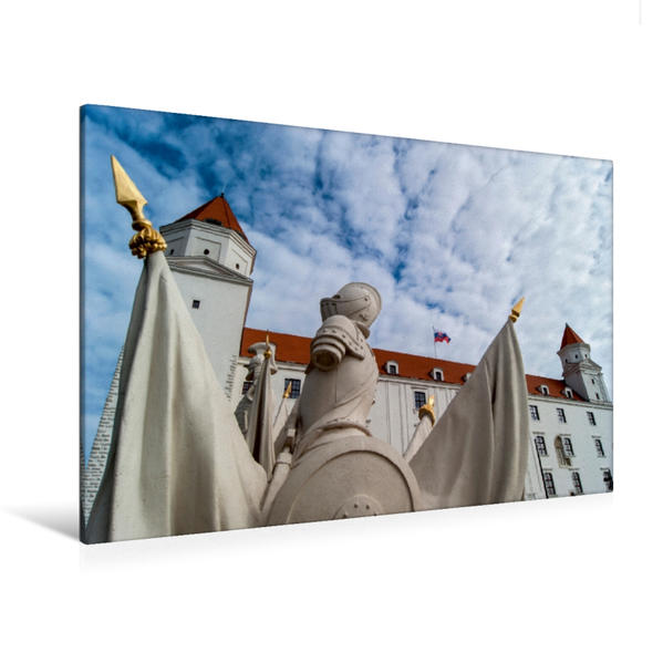 Premium Textil-Leinwand 120 cm x 80 cm quer, Ein Motiv aus dem Kalender Bratislava | Wandbild, Bild auf Keilrahmen, Fertigbild auf echter Leinwand, Leinwanddruck - Coverbild