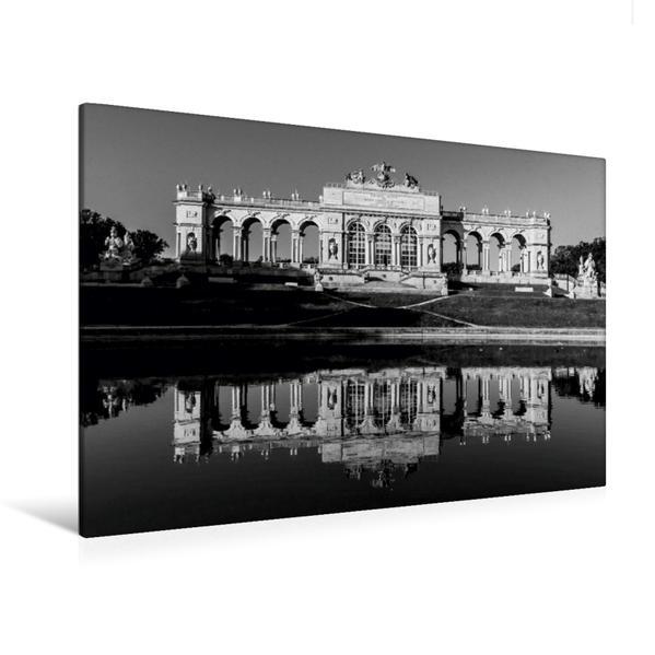 Premium Textil-Leinwand 120 cm x 80 cm quer, Gloriette, Schloss Schönbrunn | Wandbild, Bild auf Keilrahmen, Fertigbild auf echter Leinwand, Leinwanddruck - Coverbild