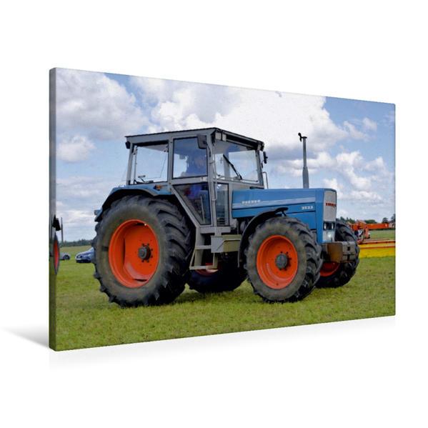 Premium Textil-Leinwand 90 cm x 60 cm quer, Eicher 3133 | Wandbild, Bild auf Keilrahmen, Fertigbild auf echter Leinwand, Leinwanddruck - Coverbild
