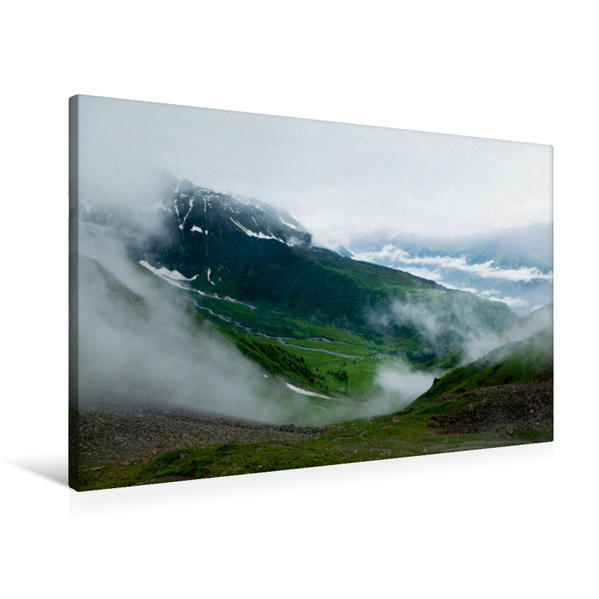 Premium Textil-Leinwand 90 cm x 60 cm quer, Col du Tricot | Wandbild, Bild auf Keilrahmen, Fertigbild auf echter Leinwand, Leinwanddruck - Coverbild