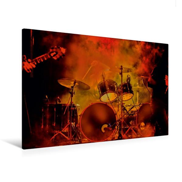 Premium Textil-Leinwand 120 cm x 80 cm quer, Schlagzeug - einfach cool | Wandbild, Bild auf Keilrahmen, Fertigbild auf echter Leinwand, Leinwanddruck - Coverbild