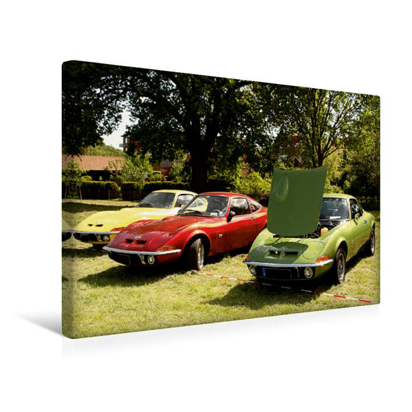 Premium Textil-Leinwand 45 cm x 30 cm quer, Opel GT | Wandbild, Bild auf Keilrahmen, Fertigbild auf echter Leinwand, Leinwanddruck - Coverbild