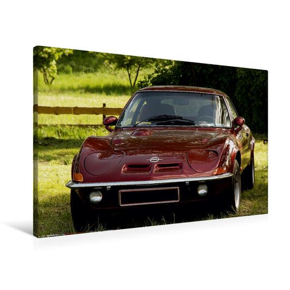 Premium Textil-Leinwand 90 cm x 60 cm quer, Opel GT | Wandbild, Bild auf Keilrahmen, Fertigbild auf echter Leinwand, Leinwanddruck - Coverbild