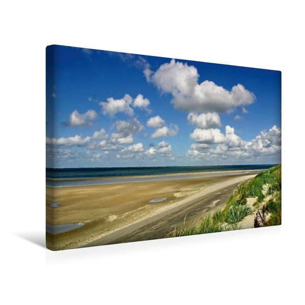 Premium Textil-Leinwand 45 cm x 30 cm quer, Strand bei De Muy | Wandbild, Bild auf Keilrahmen, Fertigbild auf echter Leinwand, Leinwanddruck - Coverbild