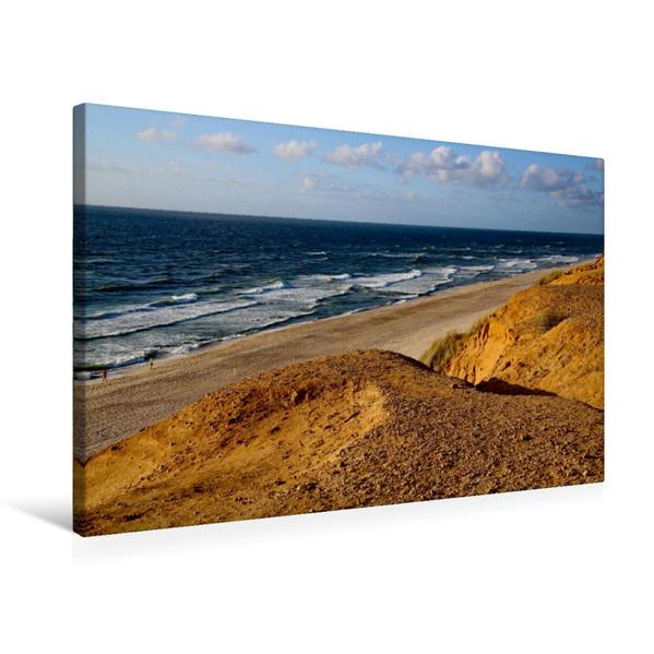 Premium Textil-Leinwand 75 cm x 50 cm quer, Abbruchkante am roten Kliff | Wandbild, Bild auf Keilrahmen, Fertigbild auf echter Leinwand, Leinwanddruck - Coverbild