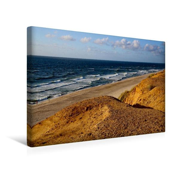 Premium Textil-Leinwand 45 cm x 30 cm quer, Abbruchkante am roten Kliff | Wandbild, Bild auf Keilrahmen, Fertigbild auf echter Leinwand, Leinwanddruck - Coverbild