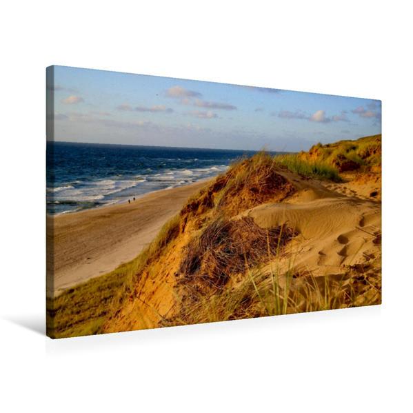 Premium Textil-Leinwand 75 cm x 50 cm quer, bei Wenningstedt auf dem roten Kliff   Wandbild, Bild auf Keilrahmen, Fertigbild auf echter Leinwand, Leinwanddruck - Coverbild