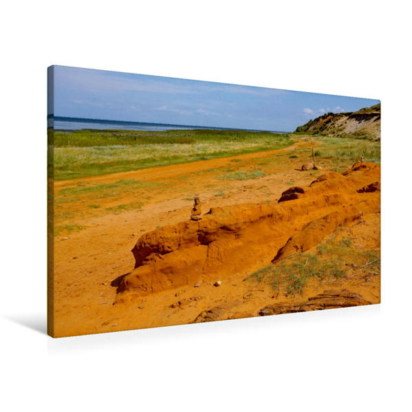 Premium Textil-Leinwand 90 cm x 60 cm quer, Morsum Kliff | Wandbild, Bild auf Keilrahmen, Fertigbild auf echter Leinwand, Leinwanddruck - Coverbild