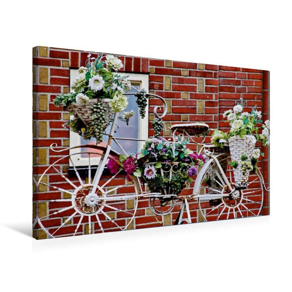 Premium Textil-Leinwand 75 cm x 50 cm quer, Dachdekoration   Wandbild, Bild auf Keilrahmen, Fertigbild auf echter Leinwand, Leinwanddruck - Coverbild