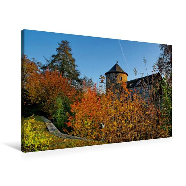 Premium Textil-Leinwand 90 cm x 60 cm quer, Ein Motiv aus dem Kalender Ratinger Herbstimpressionen   Wandbild, Bild auf Keilrahmen, Fertigbild auf echter Leinwand, Leinwanddruck - Coverbild
