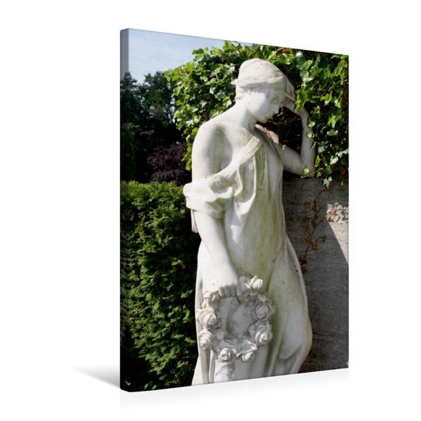 Premium Textil-Leinwand 50 cm x 75 cm hoch, nachdenkliche Frau | Wandbild, Bild auf Keilrahmen, Fertigbild auf echter Leinwand, Leinwanddruck - Coverbild