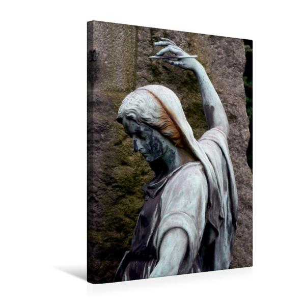 Premium Textil-Leinwand 50 cm x 75 cm hoch, Friedhofsskulptur | Wandbild, Bild auf Keilrahmen, Fertigbild auf echter Leinwand, Leinwanddruck - Coverbild