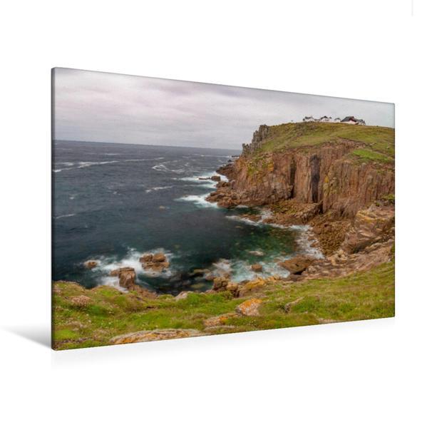 Premium Textil-Leinwand 120 cm x 80 cm quer, Land's End | Wandbild, Bild auf Keilrahmen, Fertigbild auf echter Leinwand, Leinwanddruck - Coverbild
