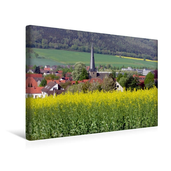 Premium Textil-Leinwand 45 cm x 30 cm quer, Die St. Johannis Kirche in Gr. Berkel | Wandbild, Bild auf Keilrahmen, Fertigbild auf echter Leinwand, Leinwanddruck - Coverbild