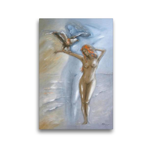Premium Textil-Leinwand 30 cm x 45 cm hoch, Göttin der Natur | Wandbild, Bild auf Keilrahmen, Fertigbild auf echter Leinwand, Leinwanddruck - Coverbild